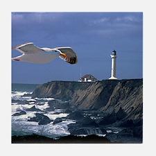 (4) lighthouse  seagull Tile Coaster