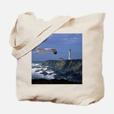 (4) lighthouse  seagull Tote Bag