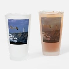 (4) lighthouse  seagull Drinking Glass