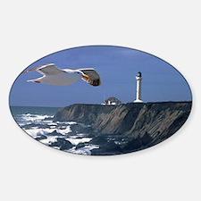 (4) lighthouse  seagull Sticker (Oval)
