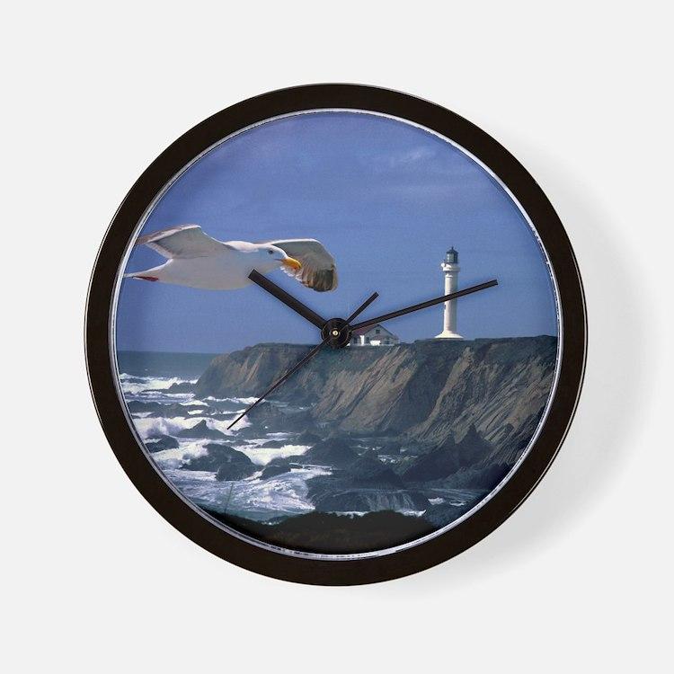 (4) lighthouse  seagull Wall Clock