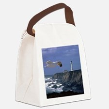 (4) lighthouse  seagull Canvas Lunch Bag