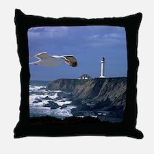 (4) lighthouse  seagull Throw Pillow