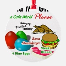 Cafe World (Send Me Gifts) Ornament