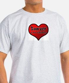 Sawyer is my Valentine Ash Grey T-Shirt