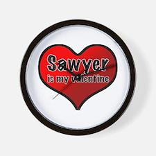 Sawyer is my Valentine Wall Clock