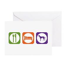 Eat Sleep Saluki Greeting Cards (Pk of 10)