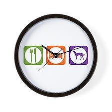 Eat Sleep Saluki Wall Clock