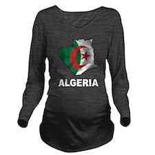 Map Of Algeria Long Sleeve Maternity T-Shirt