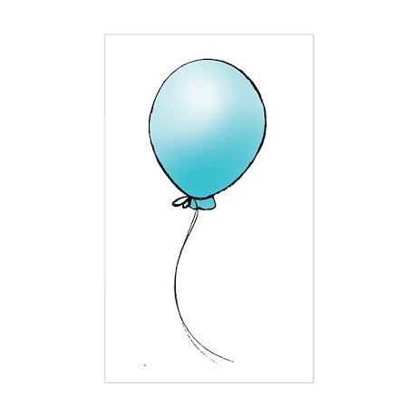 Turquoise Balloon Rectangle Sticker