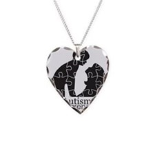 autismsilhouette Necklace Heart Charm