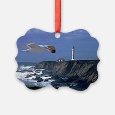 (11) lighthouse & seagull Ornament