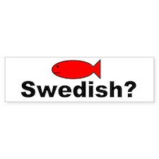 Swedish Fish White Bumper Stickers