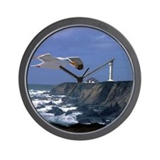 (14) lighthouse & seagull Wall Clock