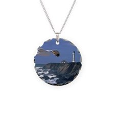 (14) lighthouse & seagull Necklace