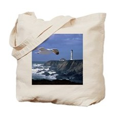 (14) lighthouse & seagull Tote Bag