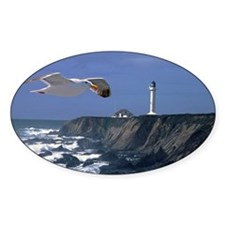 (12) lighthouse  seagull Decal