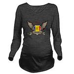 Andorra Emblem Long Sleeve Maternity T-Shirt