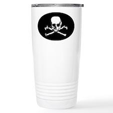 Skull  Crossbones (Oval 3.25x5. Travel Mug
