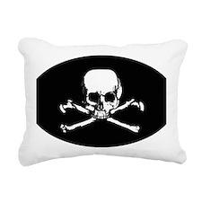 Skull  Crossbones (Oval  Rectangular Canvas Pillow