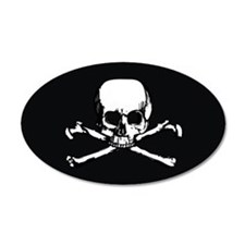 Skull  Crossbones (Oval 3.25 Wall Decal