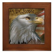 We_the_People_8inSq Framed Tile