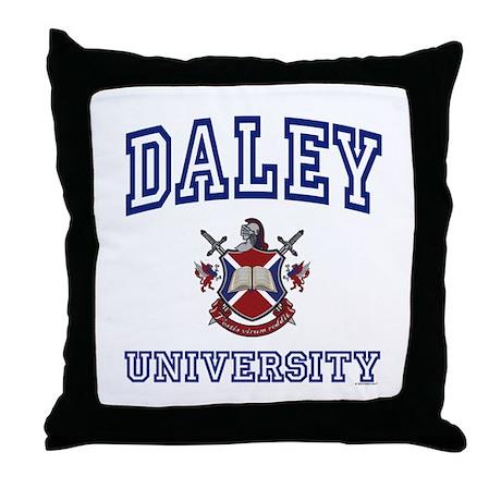 DALEY University Throw Pillow