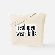 Real Men Wear Kilts Tote Bag