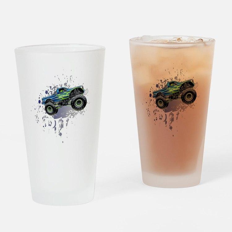 Monster_Truck_Light_cp Drinking Glass