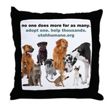 NOONEDOESMORE Throw Pillow