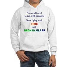 Fire and Broken glass 12 Hoodie