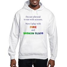 Fire and Broken glass 12 Jumper Hoody