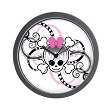 10x10_SkullGirl Wall Clock