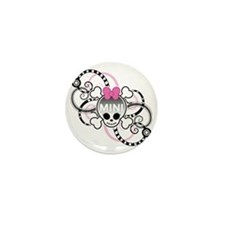 10x10_SkullGirl Mini Button