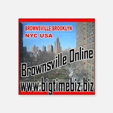 "200-Brownsville_Online Square Sticker 3"" x 3"""