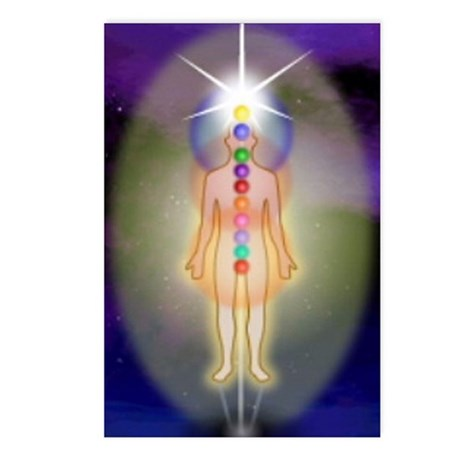12 Chakras LRG Postcards (Package of 8)