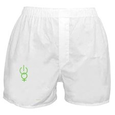 girlpower-green-shirt-front Boxer Shorts