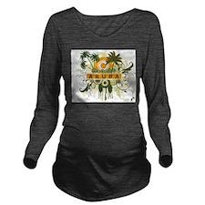 Palm Tree Aruba Long Sleeve Maternity T-Shirt