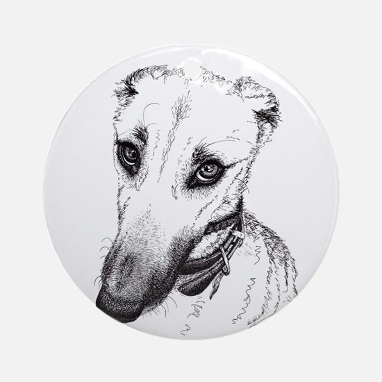 'Rufus' Lurcher with the beautiful Round Ornament