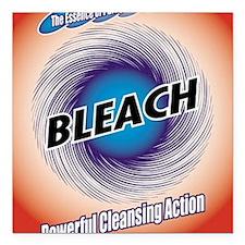 """2-bleach1 Square Car Magnet 3"""" x 3"""""""