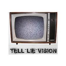 Tell Lie Vision Throw Blanket