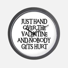 HAND OVER THE VALENTINE Wall Clock