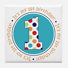 2-itsmybirthday colorful Tile Coaster