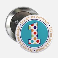 """2-itsmybirthday colorful 2.25"""" Button"""