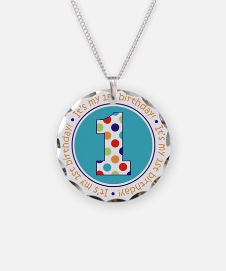 2-itsmybirthday colorful Necklace Circle Charm