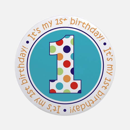 2-itsmybirthday colorful Round Ornament