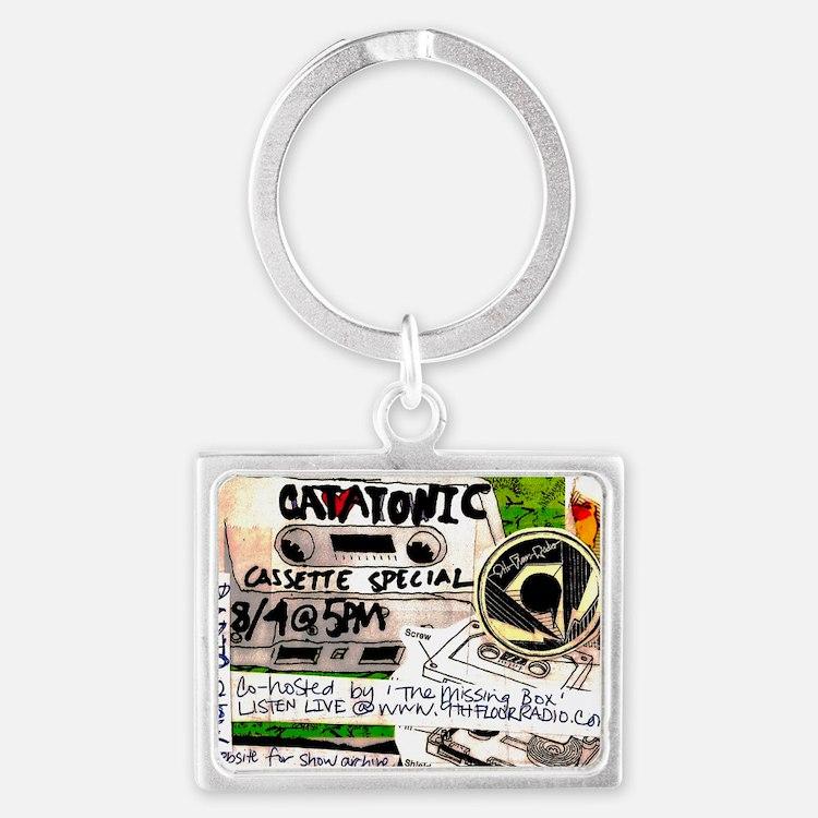 catatonic cassette tape show2 Landscape Keychain