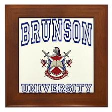 BRUNSON University Framed Tile