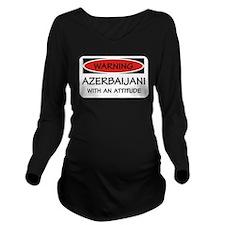 Attitude Azerbaijani Long Sleeve Maternity T-Shirt