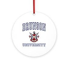 BRUNSON University Ornament (Round)